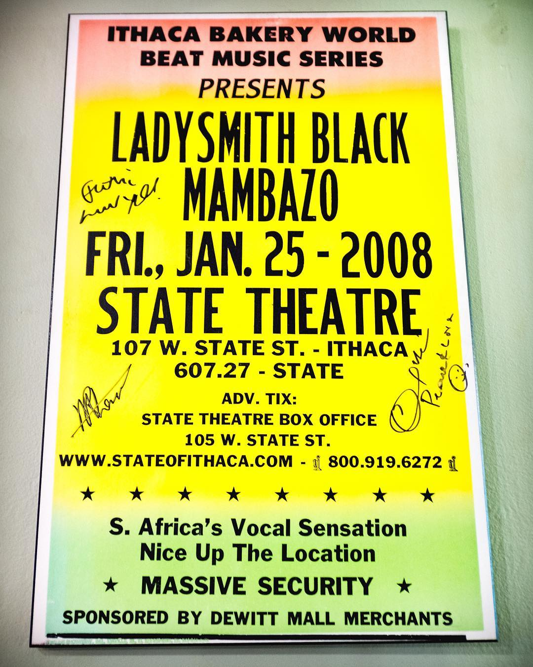 Who caught theladysmithblackmambazo 10 years ago? Catch them again Febhellip